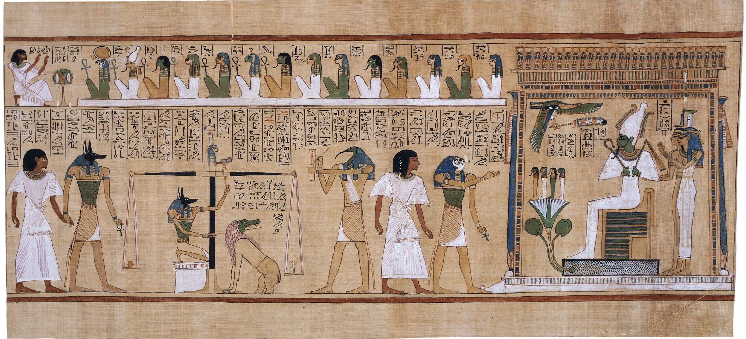 Judgement scene from the Book of the Dead