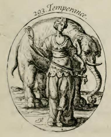 Temperance from an English edition of Iconologia