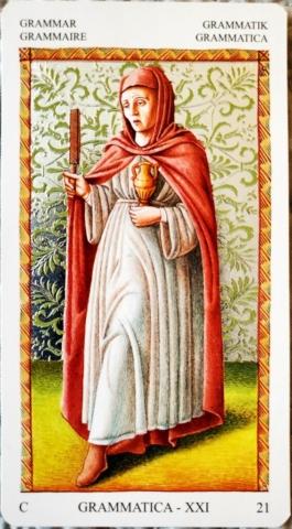 Grammar card from the Mantegna tarot